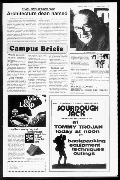 Daily Trojan, Vol. 67, No. 112, April 22, 1975