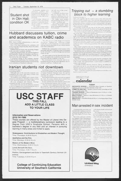 Daily Trojan, Vol. 75, No. 2, September 19, 1978