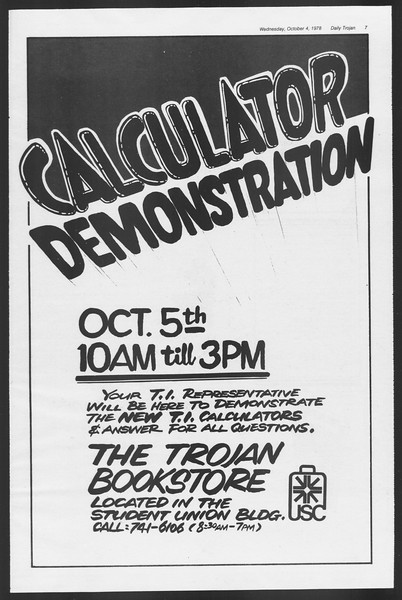 Daily Trojan, Vol. 75, No. 12, October 04, 1978