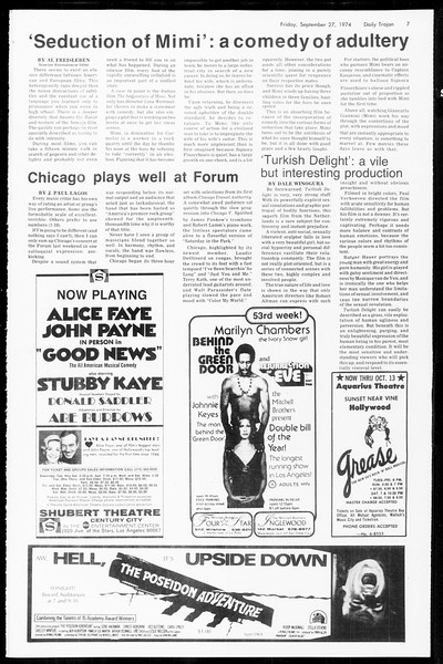 Daily Trojan, Vol. 67, No. 10, September 27, 1974