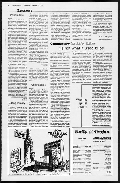 Daily Trojan, Vol. 68, No. 68, February 05, 1976