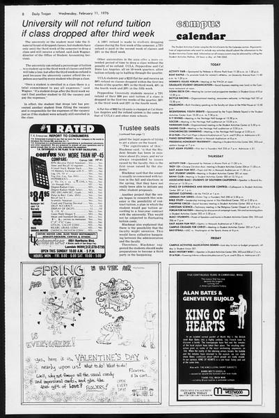 Daily Trojan, Vol. 68, No. 72, February 11, 1976
