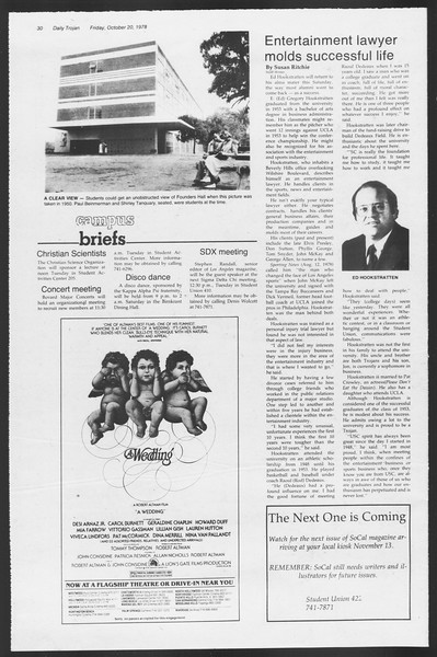Daily Trojan, Vol. 75, No. 23, October 20, 1978