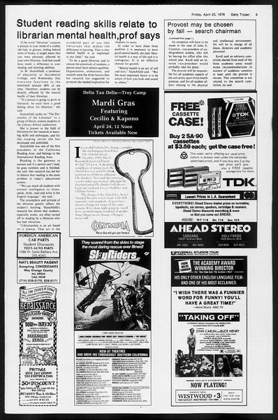 Daily Trojan, Vol. 68, No. 115, April 23, 1976