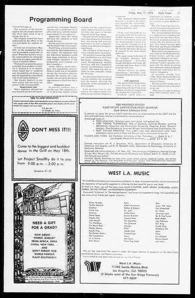 Daily Trojan, Vol. 66, No. 129, May 17, 1974