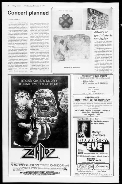 Daily Trojan, Vol. 66, No. 66, February 06, 1974