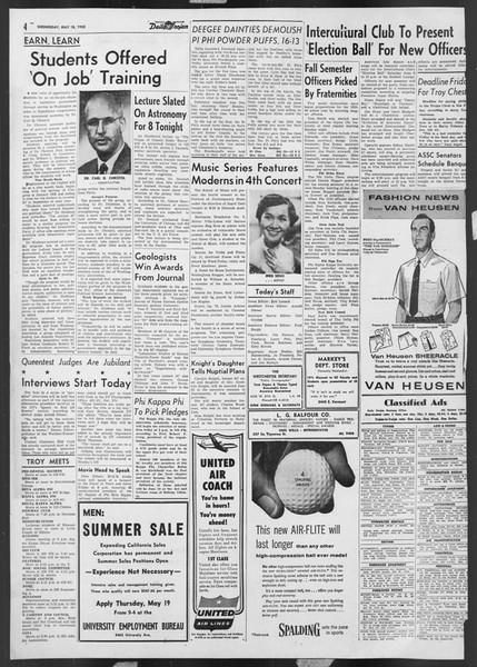 Daily Trojan, Vol. 46, No. 138, May 18, 1955