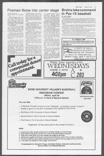 Daily Trojan, Vol. 76, No. 46, April 25, 1979