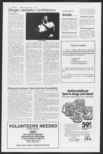 Daily Trojan, Vol. 75, No. 31, November 01, 1978