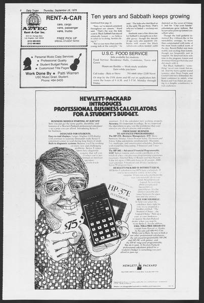 Daily Trojan, Vol. 75, No. 8, September 28, 1978