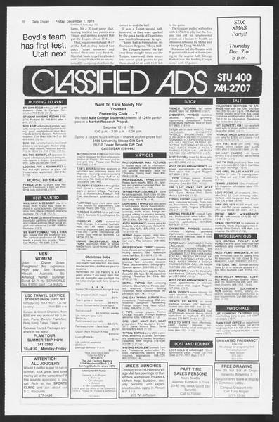 Daily Trojan, Vol. 75, No. 46, December 01, 1978