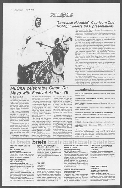 Daily Trojan, Vol. 76, No. 50, May 01, 1979
