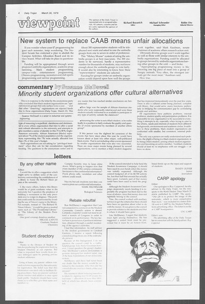 Daily Trojan, Vol. 76, No. 35, March 30, 1979