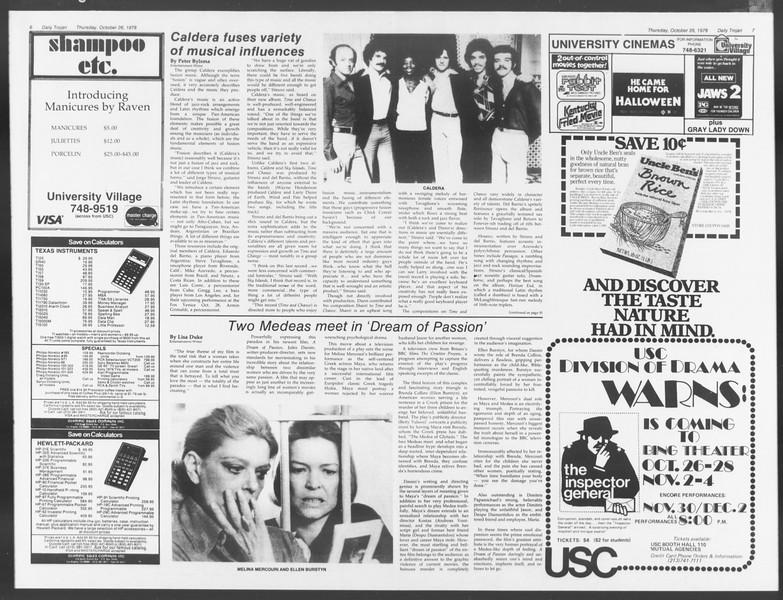 Daily Trojan, Vol. 75, No. 27, October 26, 1978