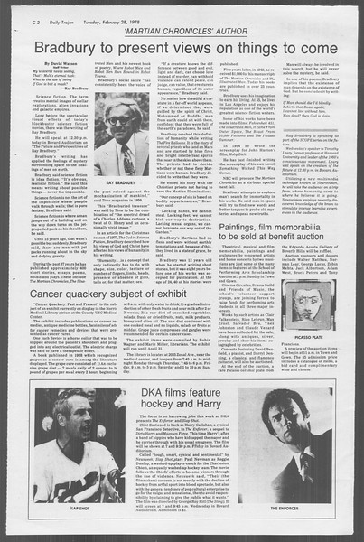 Daily Trojan, Vol. 73, No. 14, February 28, 1978