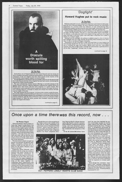 Summer Trojan, Vol. 74, No. 13, July 28, 1978