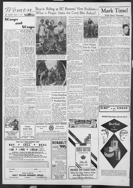 Daily Trojan, Vol. 46, No. 109, March 31, 1955