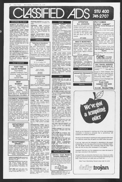 Daily Trojan, Vol. 75, No. 44, November 29, 1978
