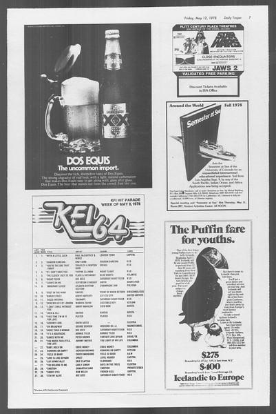 Daily Trojan, Vol. 73, No. 59, May 12, 1978