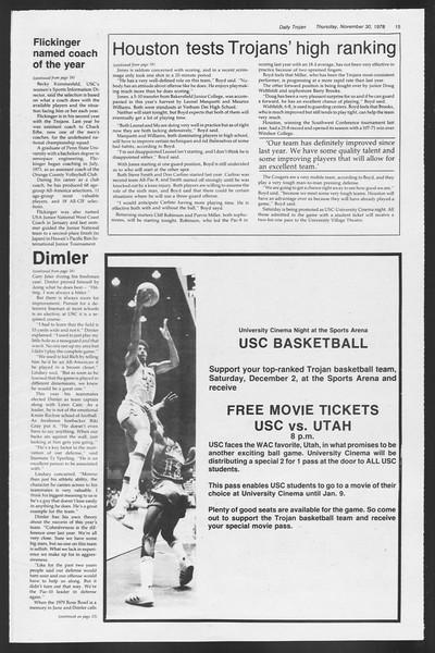 Daily Trojan, Vol. 75, No. 45, November 30, 1978