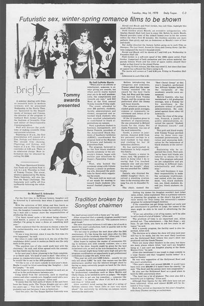 Daily Trojan, Vol. 73, No. 61, May 16, 1978