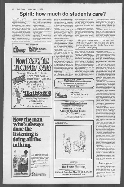 Daily Trojan, Vol. 73, No. 59, May 12, 1978