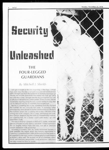SoCal, Vol. 67, No. 48, November 25, 1974