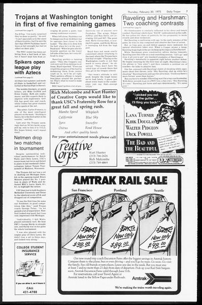 Daily Trojan, Vol. 67, No. 76, February 20, 1975