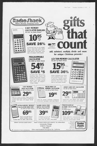 Daily Trojan, Vol. 75, No. 48, December 05, 1978