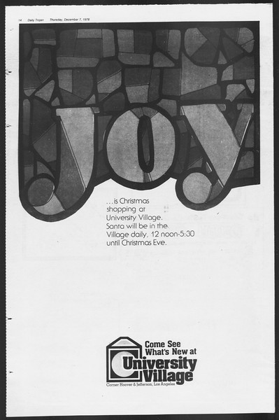 Daily Trojan, Vol. 75, No. 50, December 07, 1978