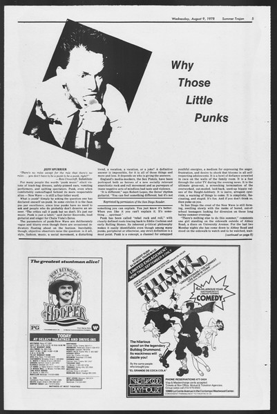 Summer Trojan, Vol. 74, No. 15, August 09, 1978