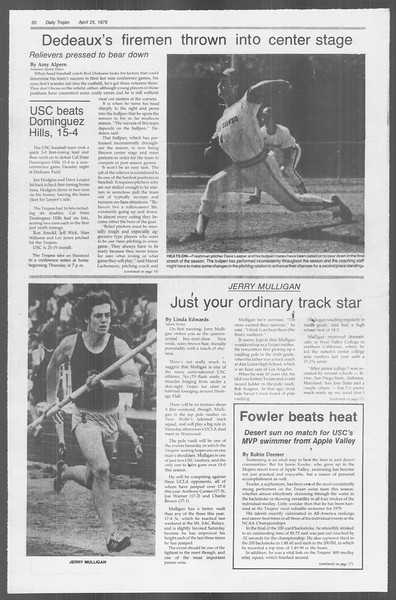 Daily Trojan, Vol. 76, No. 46, April 25, 1979