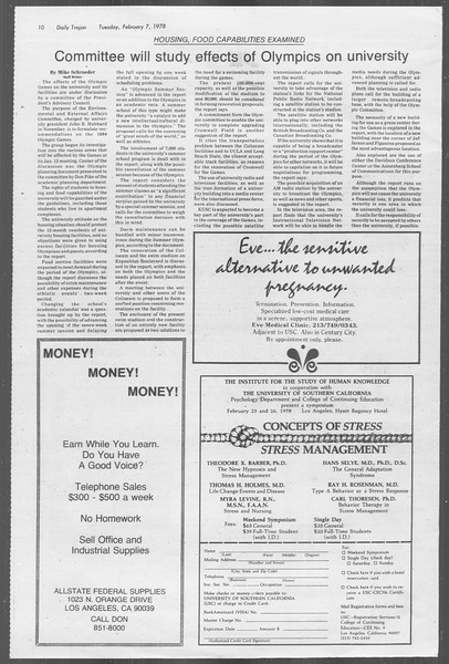 Daily Trojan, Vol. 73, No. 1, February 07, 1978