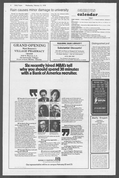 Daily Trojan, Vol. 73, No. 7, February 15, 1978