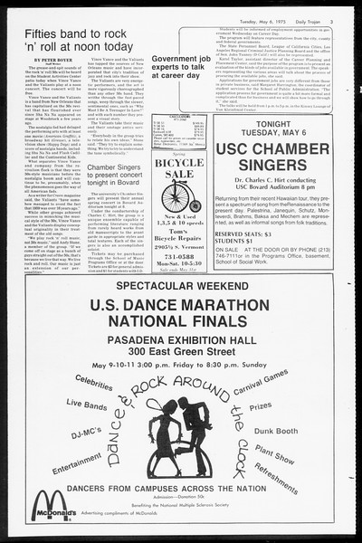Daily Trojan, Vol. 67, No. 122, May 06, 1975