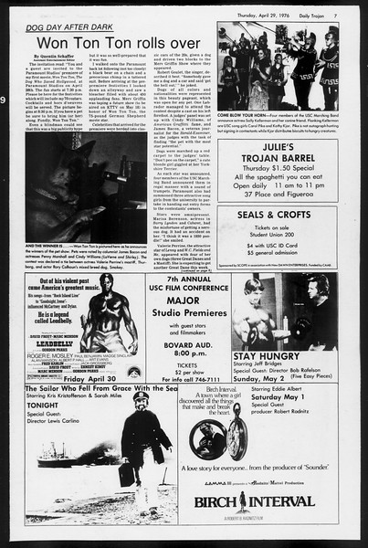 Daily Trojan, Vol. 68, No. 119, April 29, 1976