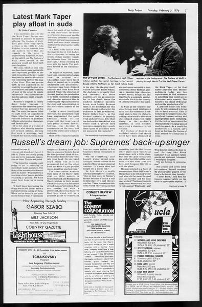 Daily Trojan, Vol. 68, No. 68, February 05, 1976