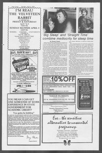 Daily Trojan, Vol. 73, No. 34, April 06, 1978