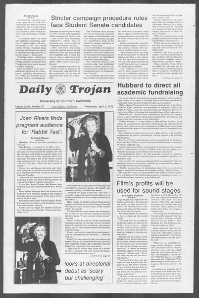 Daily Trojan, Vol. 73, No. 33, April 05, 1978