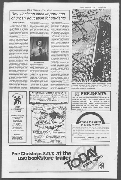 Daily Trojan, Vol. 73, No. 22, March 10, 1978