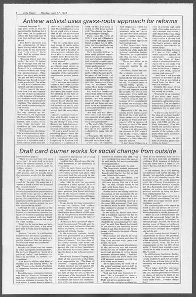 Daily Trojan, Vol. 73, No. 41, April 17, 1978