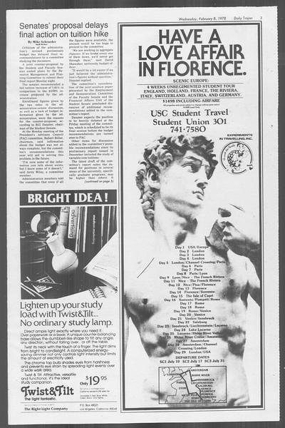 Daily Trojan, Vol. 73, No. 2, February 08, 1978