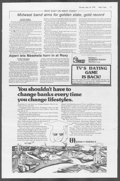 Daily Trojan, Vol. 73, No. 63, May 18, 1978