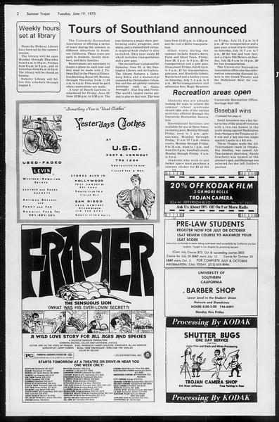 Summer Trojan, Vol. 66, No. 1, June 19, 1973