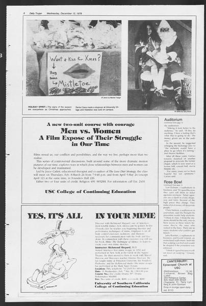 Daily Trojan, Vol. 75, No. 54, December 13, 1978