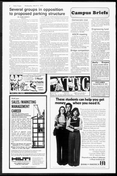 Daily Trojan, Vol. 67, No. 85, March 05, 1975