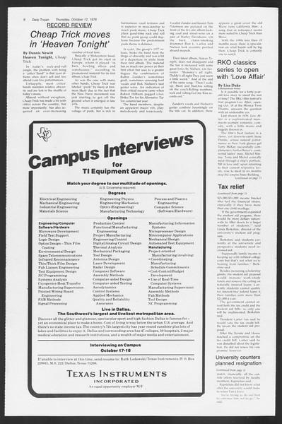 Daily Trojan, Vol. 75, No. 18, October 12, 1978