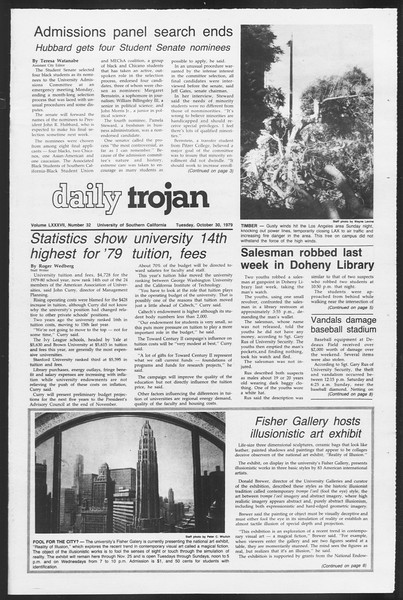 Daily Trojan, Vol. 87, No. 32, October 30, 1979