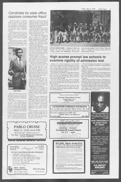 Daily Trojan, Vol. 73, No. 55, May 05, 1978