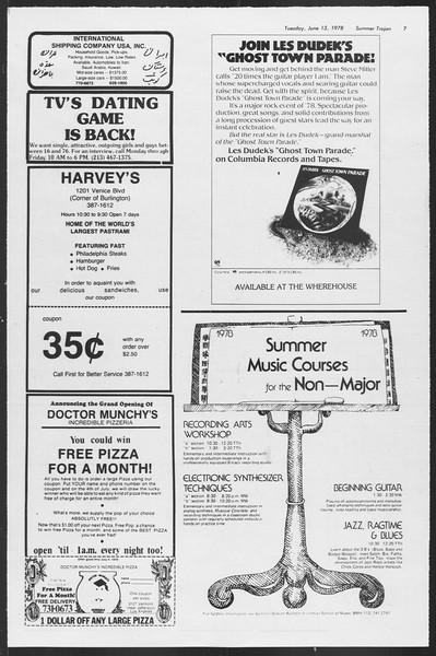 Summer Trojan, Vol. 74, No. 1, June 13, 1978